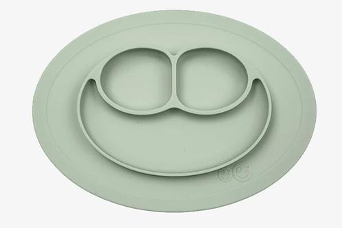 Assiette antidérapante compartimentée silicone Vert amande ☆ EZPZ