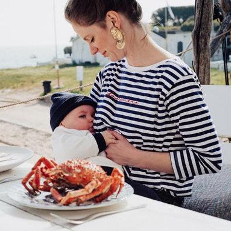 T-shirt allaitement Face à la mère ☆ TAJINE BANANE