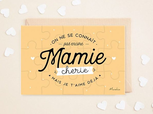 """Puzzle d'annonce """"Mamie"""" ☆ Manahia"""