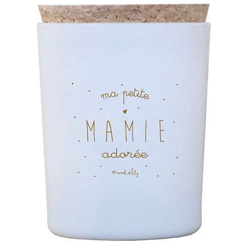 """Bougie """"Ma petite mamie adorée"""" fleur de coton ☆ MARCEL & LILY"""