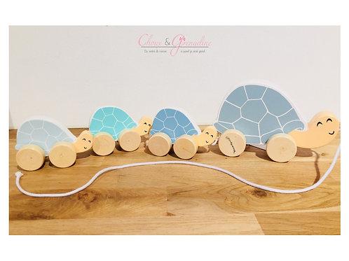 Famille tortue à tirer bleu ☆ BLOOMINGVILLE