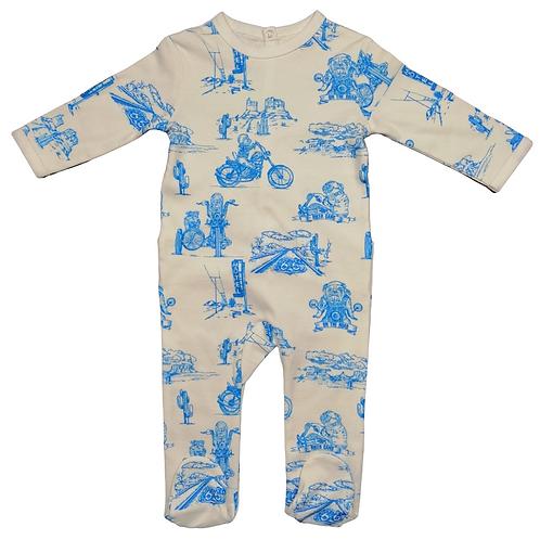 Pyjama Blue Biker ☆ CHANGE MA COUCHE