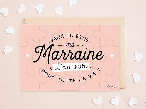 """Puzzle d'annonce """"Marraine"""" ☆ Marraine"""