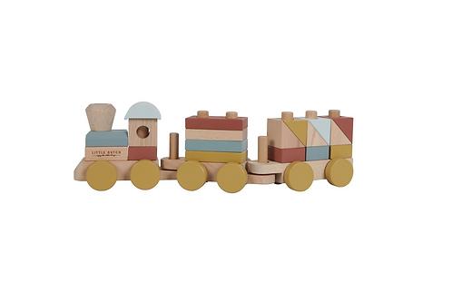 Train à blocs Pure & Nature ☆ LITTLE DUTCH