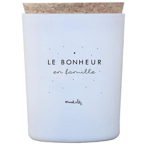 """Bougie """"Le bonheur en famille"""" miel ☆ MARCEL & LILY"""