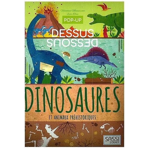 """Pop-up dessus/dessous """"Les dinosaures"""""""