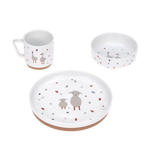 """Coffret repas en porcelaine """"Mouton & Oie"""" ☆ LASSIG"""