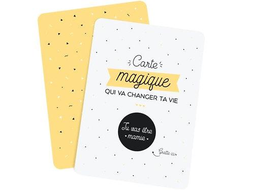 """Carte à gratter d'annonce """"Mamie"""" ☆ Manahia"""
