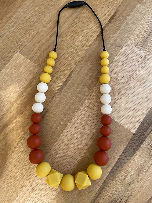 Collier allaitement/portage terracota/moutarde ☆ Poosh mum