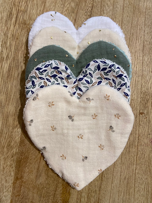 5 Lingettes Coeur