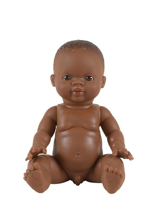 Poupée garçon Afrique yeux Caramel  ☆ MINIKANE