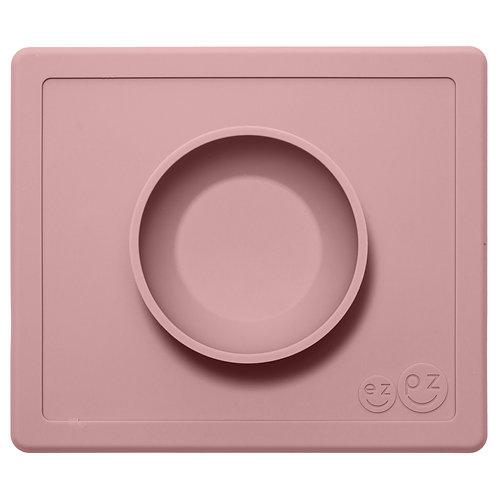 Assiette antidérapante silicone HAPPY rose pâle ☆ EZPZ