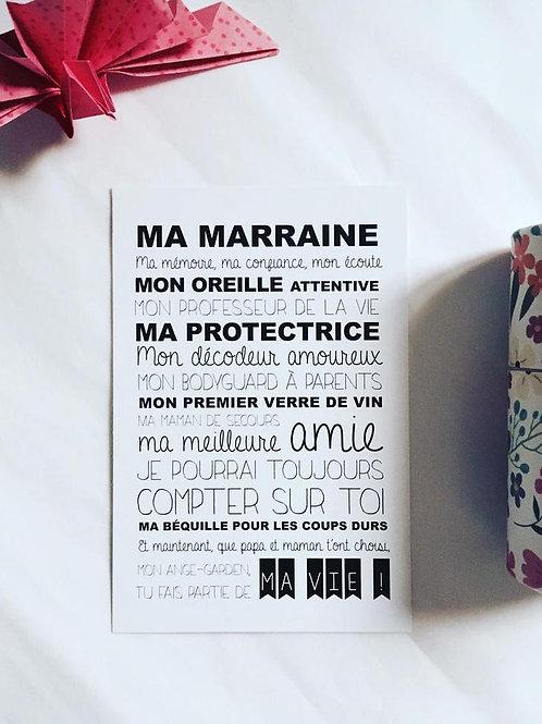 """Carte """"Ma Marraine"""" ☆ Suite créative"""