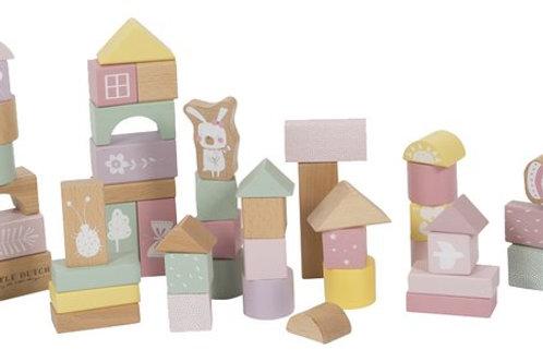 Cubes de construction rose ☆ LITTLE DUTCH