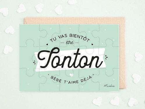 """Puzzle d'annonce  """"Tonton"""" ☆ Manahia"""