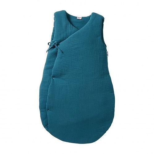 Gigoteuse forme kimono gaze de coton Vert Paon 6/18 mois ☆ BBANDCO
