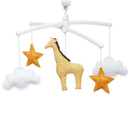 "Mobile musical ""Girafe jaune"" ☆ POUCE ET LINA"