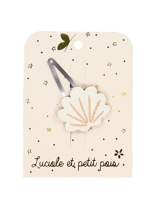 Barrette Coquillage blanc ☆ LUCIOLE ET PETIT POIS