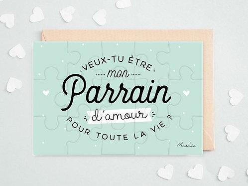 """Puzzle d'annonce  """"Parrain"""" ☆ Manahia"""