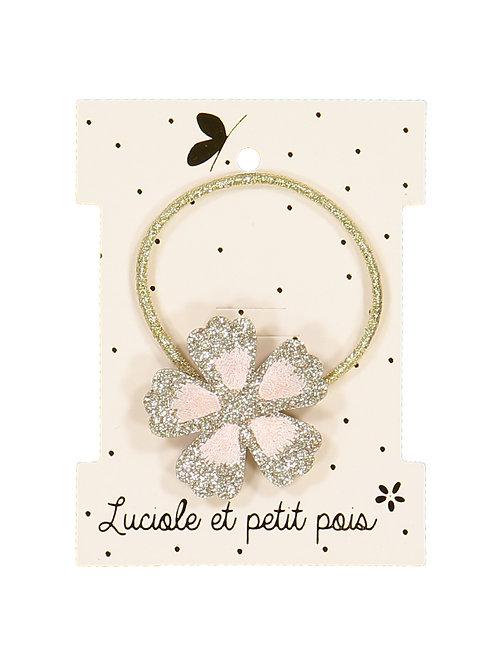 Elastique glitter fleur ☆ LUCIOLE ET PETIT POIS