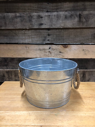 Small Round Galvanized Tub