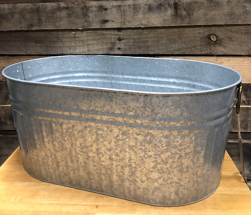 Oval Galvanized Tub