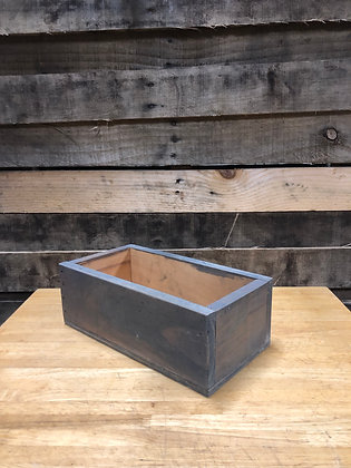 Rectangular Gray Basket