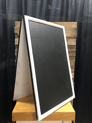 White A-Framed Chalboard Sign
