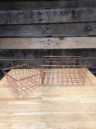 Copper Wire Basket Set