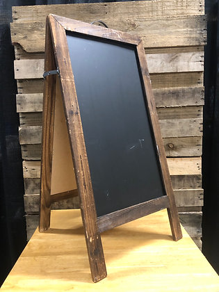 Wooden A Framed Chalkboard Sign