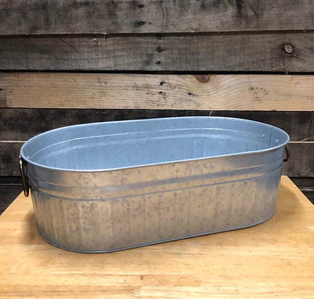 Shallow Galvanized Tub