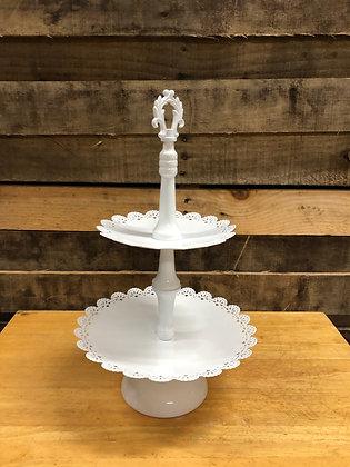 White Metal Cake Stand
