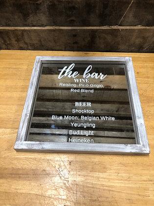 Mirrored Bar Sign