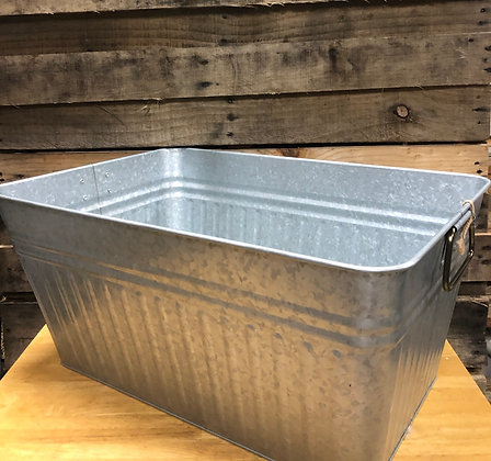 Rectangular Galvanized Tub