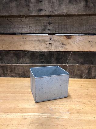 Small Square Galvanized Bucket
