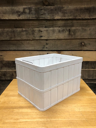 White Wooden Crate