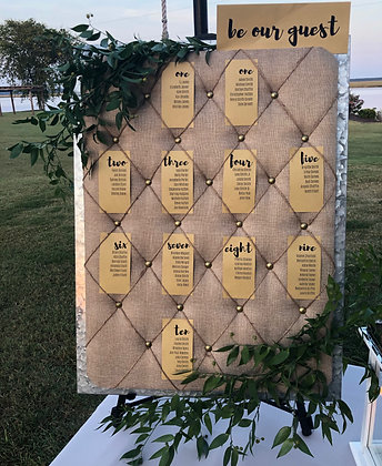 Tufted Seating Chart