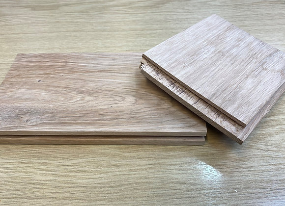 Solid Oak Unfinished Flooring options of 80, 100 or 120mm Wide