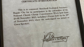 Climate Change Commission Recognizes Maryknoll Ecological Sanctuary 2013