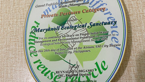 DENR Awards Maryknoll Ecological Sanctuary 2016