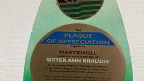 DENR Awards Maryknoll Sister Ann Braudis for Ecological Sanctuary 2002