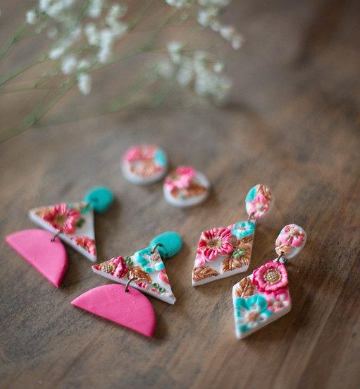 Flower Slab Earrings