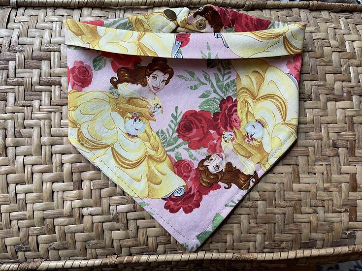 Beauty Beast & Roses Bandana w/ Snaps