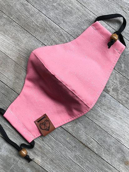 Peachy Pink Glittery Mask