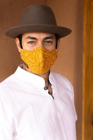 Yellow Flower Mask w/ lighter stitch