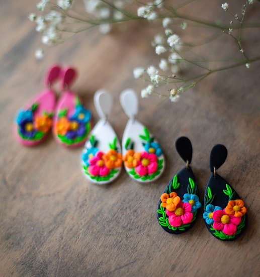 Mexican Embroider Tear Drops
