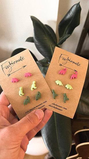Mini Dino Earrings (3 pairs)