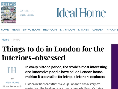 Events piece for Ideal Home