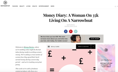 Money Diary for Refinery29