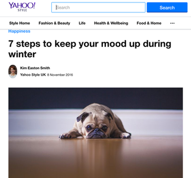 Wellbeing article for Yahoo